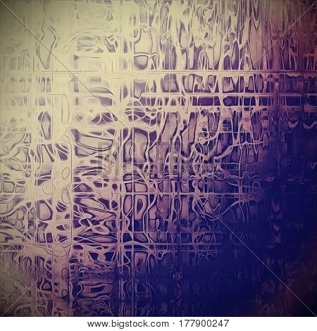 Old, grunge background or damaged texture in retro style. With different color patterns: yellow (beige); blue; gray; purple (violet); pink