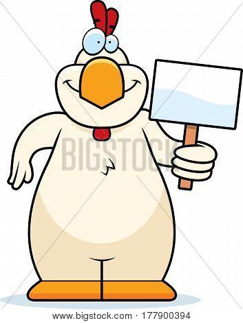 Cartoon Chicken Sign