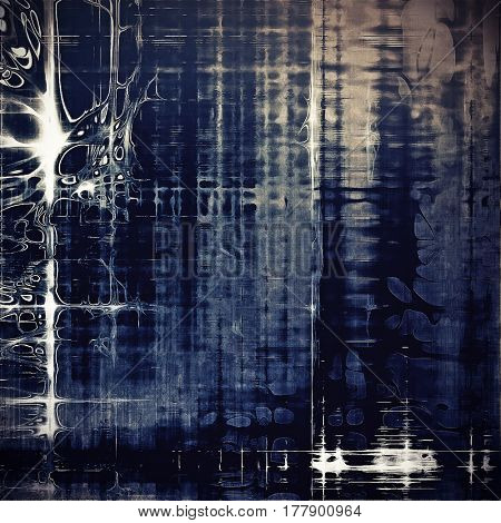 Designed background in grunge style. With different color patterns: blue; gray; cyan; white