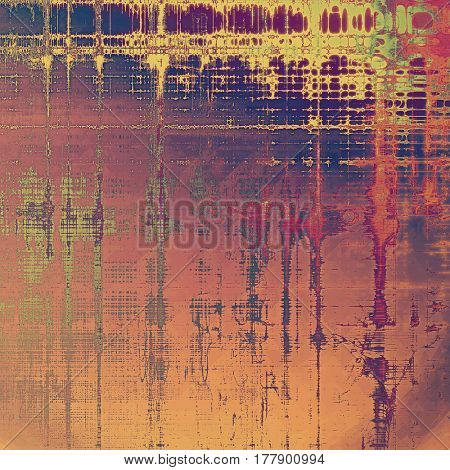 Vintage aged texture, old scratched background. With different color patterns: yellow (beige); brown; gray; red (orange); purple (violet); pink