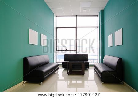 Interior of a visitor room