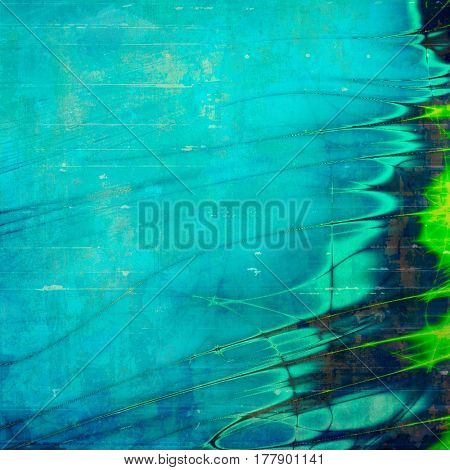 Distressed texture, faded grunge background or backdrop. With different color patterns: brown; green; blue; cyan
