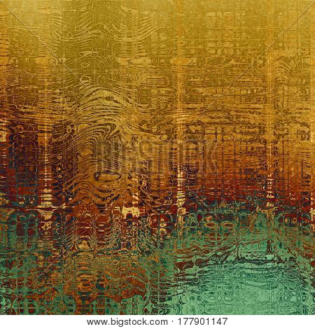 Vintage textured background. With different color patterns: yellow (beige); brown; green; red (orange); cyan