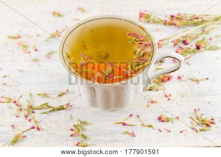 Hot Bitter-grass Tea In A Teacup