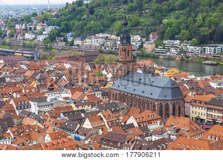 Aerial View Of Heidelberg City, Germany
