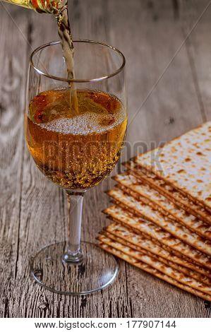 Wine And Matzoh Jewish Holiday, Passover Matzo Passover Wine