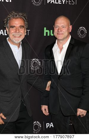LOS ANGELES - MAR 21:  John P. Kousakis, R. Scott Gemmill at the 34th Annual PaleyFest Los Angeles -