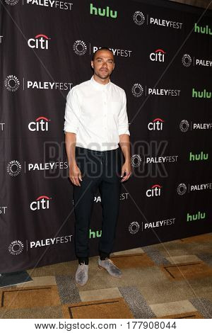 LOS ANGELES - MAR 19:  Jesse Williams at the 34th Annual PaleyFest Los Angeles -
