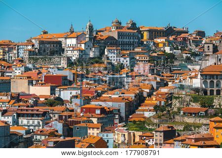 Houses in old Porto downtown, Portugal.