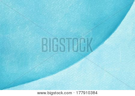 Blue handmade watercolor pattern on white background
