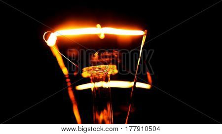 Dimming electric bulb lamp macro close up