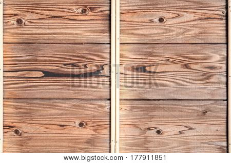 Wodden pattern of classic wood plank wall texture background. Retro decoration material for classical building