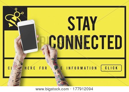 Get in Touch Stay Connected Concept