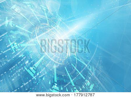 Abstract geometric technology design element. Template design