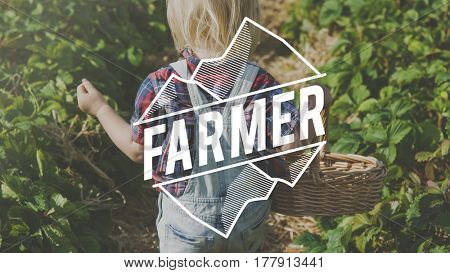 Young Farmer Lifestyle Outdoors Green Plants Graphic