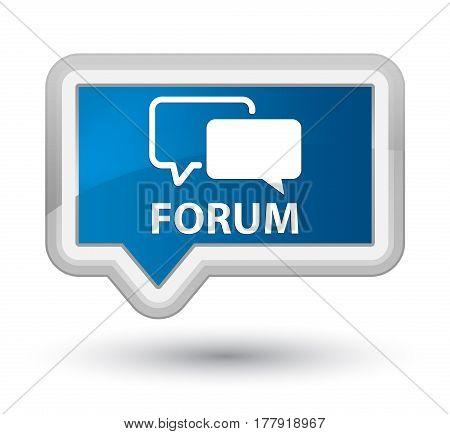 Forum Prime Blue Banner Button