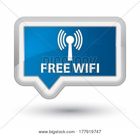Free Wifi (wlan Network) Prime Blue Banner Button