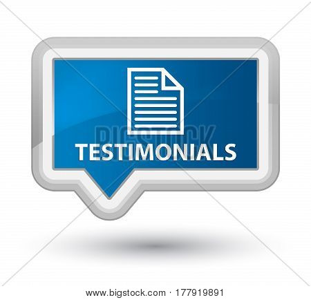 Testimonials (page Icon) Prime Blue Banner Button