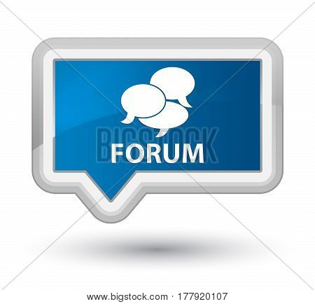 Forum (comments Icon) Prime Blue Banner Button
