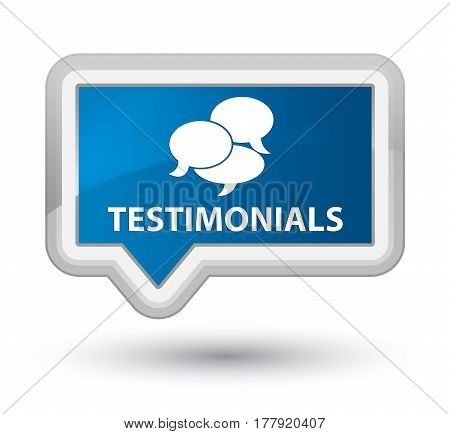 Testimonials (comments Icon) Prime Blue Banner Button