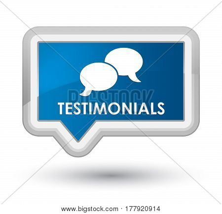 Testimonials (chat Icon) Prime Blue Banner Button