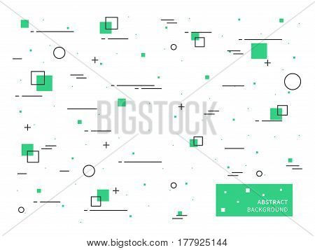 Vector concept graphic design on white background and elements.
