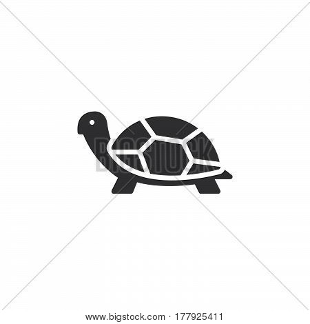 Turtle icon vector filled flat sign solid pictogram isolated on white. Symbol logo illustration