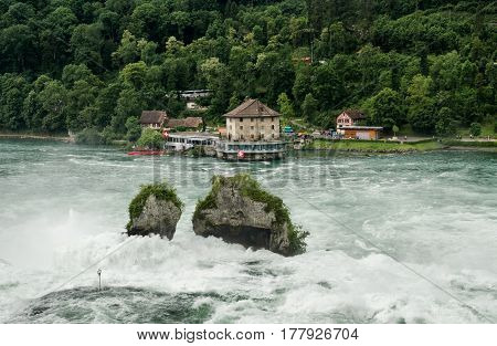 The Rhine Falls Is The Largest Plain Waterfall In Europe