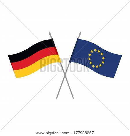 Eu And Germany Flags