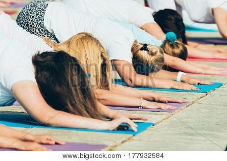 Child Pose On Yoga Event