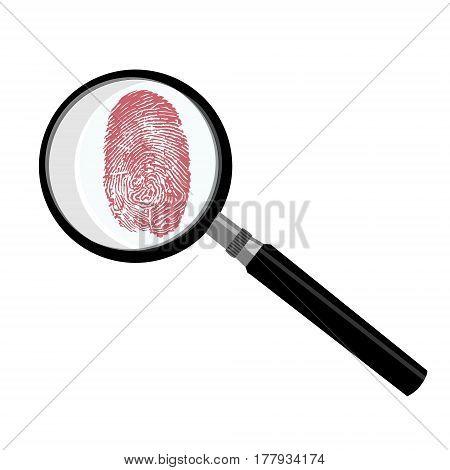 Fingerprint Criminalistic Vector