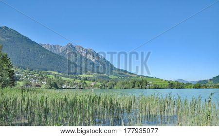 at Lake Walchsee near Koessen in Tirol,Alps,Austria