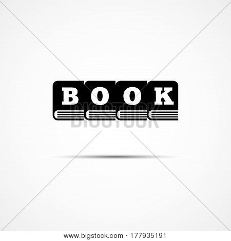 Logo design template for bookstore. Vector illustration.