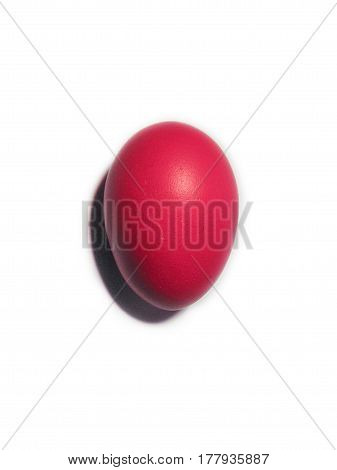 One bright red Easter Egg - natural dyed European tradition