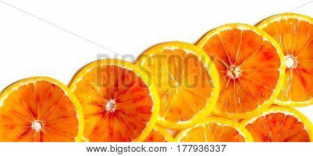 orange slices pattern on a white background