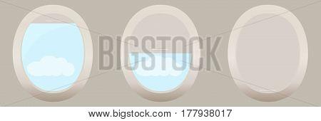Porthole Of The Plane