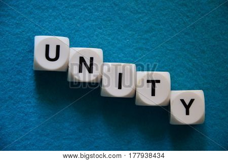 word unity on a  abstract colorful background