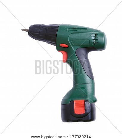 The electric drill isolated on white background
