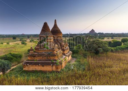 Bagan buddha tower at day , famous place in Myanmar/ Burma