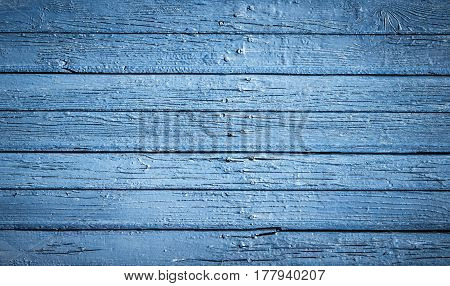 Light blue old wood planks background. Texture of sea colors