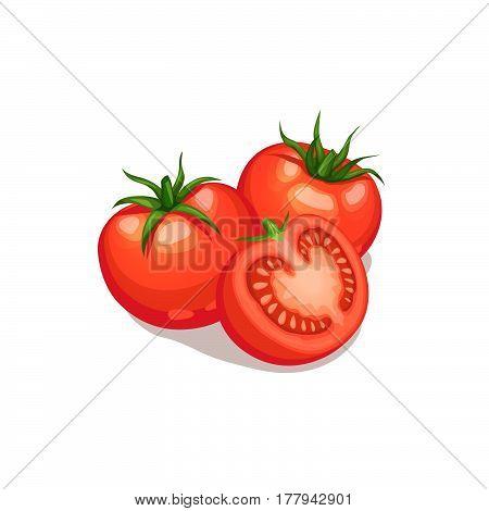 Cut Tomato Icon