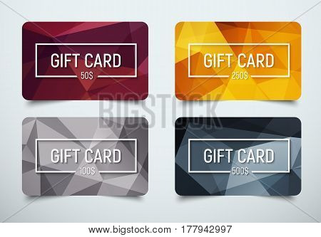 Design A Gift Card With A Frame For Text And Denomination.