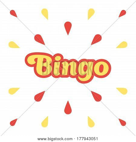 Bingo, congratulation banner. Winner concept. Vector illustration isolated on white background, template for web design or print