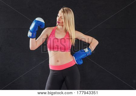 Young Adult Sexual Boxing Girl Smiling Posing For The Camera
