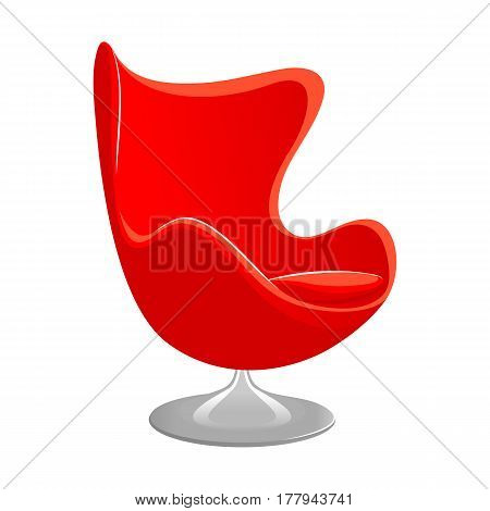 Red Modern armchair. Luxury furniture. Style armchair vector illustration isolated on white