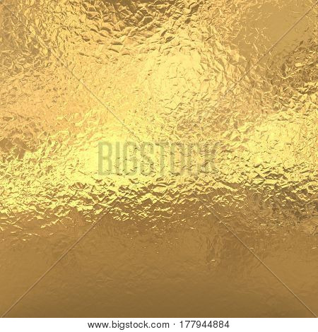Gold metal foil , yellow glitter background