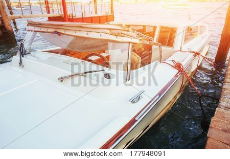 Wide Angle Shot Of Yachts In The Summer Time