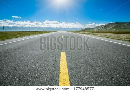 road through the grassland