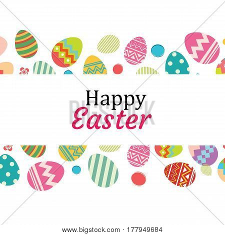 Happy easter egg background template.Can be used for greeting card ad wallpaperflyers invitation posters brochure.