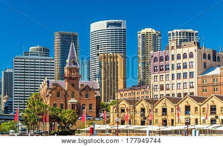 Old warehouses at Campbell's Cove Jetty in Sydney - Australia, New South Wales